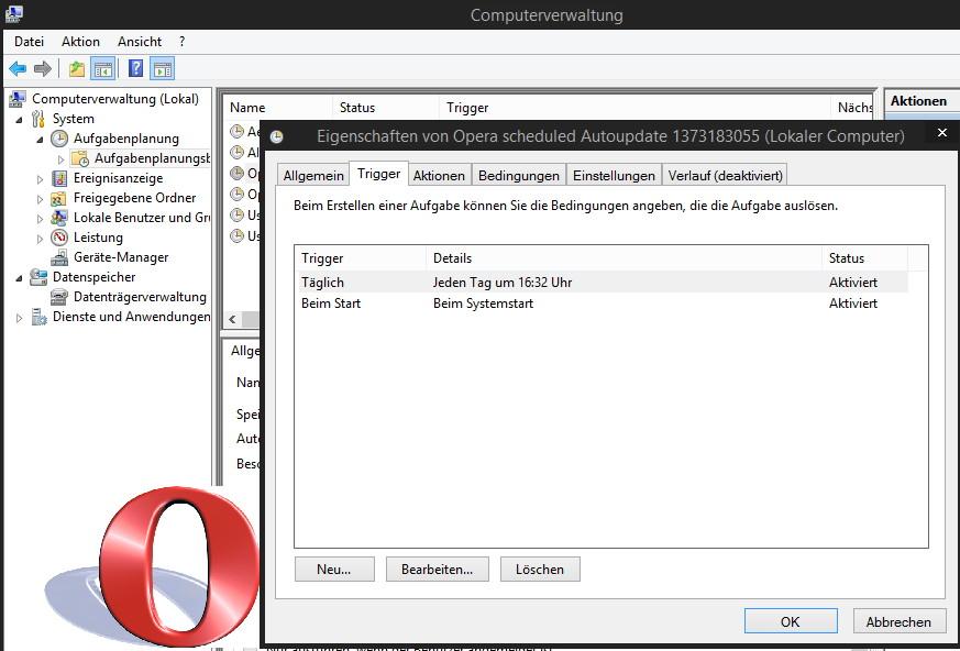 Opera 22 1460.0 nun mit einem Silent Update