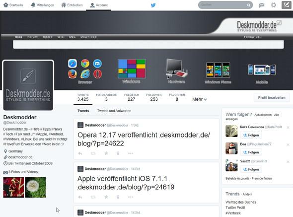 Twitter gibt das neue Design nun für alle frei