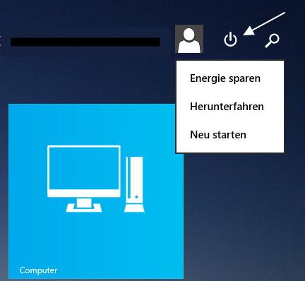 Windows 8.1 Update (1) Die Crux mit dem Button zum Herunterfahren
