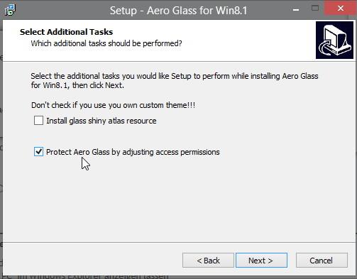 Aero Glass für Windows 8.1 in der Version 1.2.5 erschienen