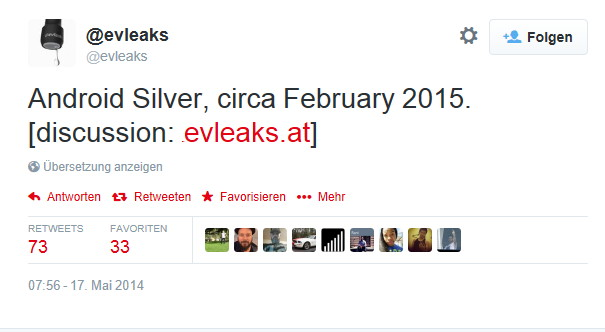 Android Silver im Februar 2015