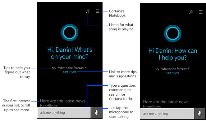 Cortana Erste Schritte und andere Tipps von Microsoft für das WP 8.1
