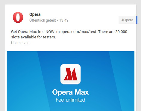 Schnell zugreifen: Opera Max vergibt 20.000 neue Zugänge