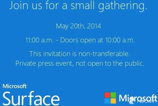 Surface Mini: Presse-Event am 20.Mai