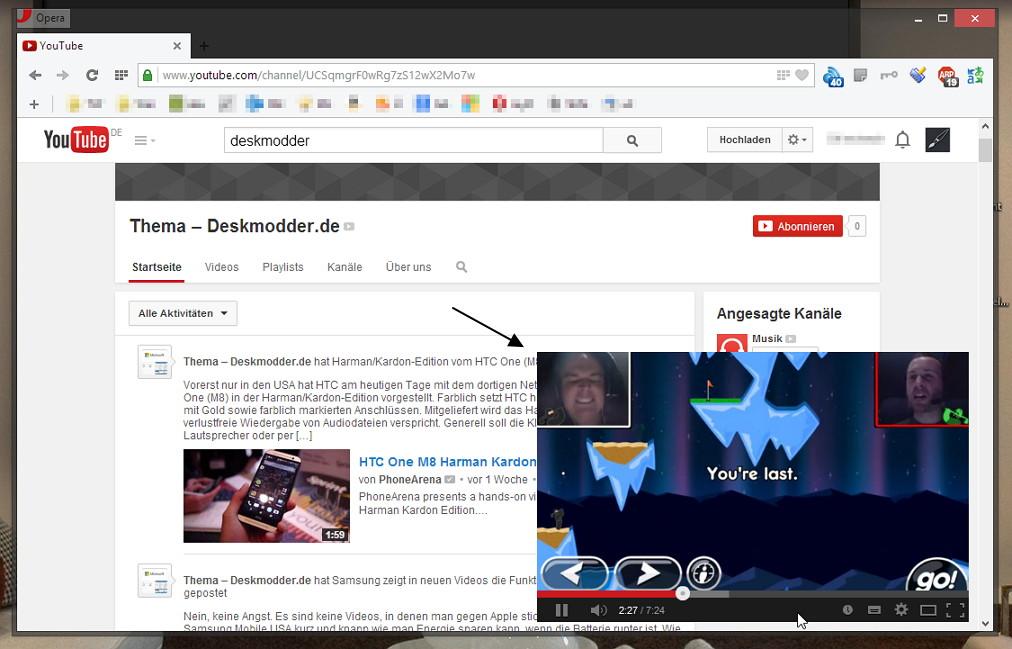 Seek 'n Play Videos auf YouTube anschauen und trotzdem weiter nach Videos suchen