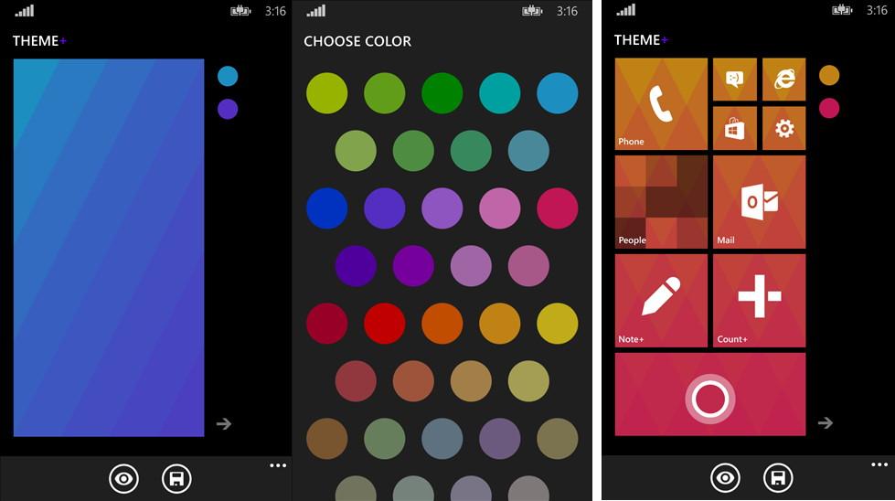Theme+ als App um das Windows Phone 8.1 Startmenü (Homescreen) zu ändern