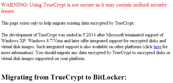 TrueCrypt ist unsicher Entwicklung endet im Mai 2014