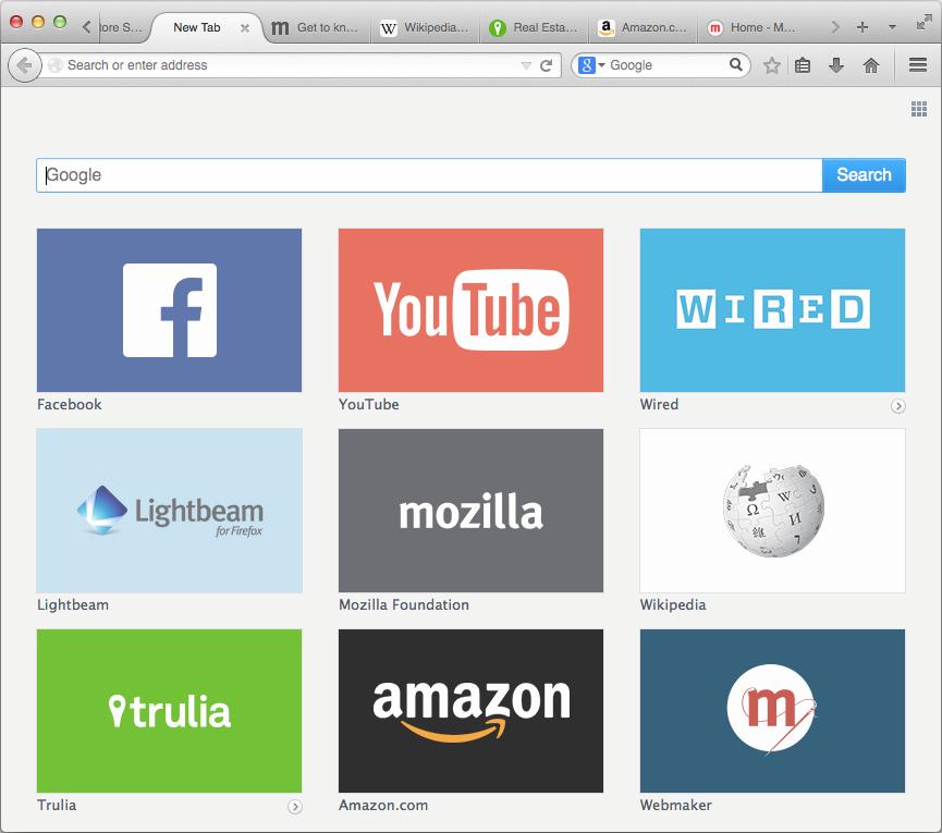 Die Werbung im Firefox nimmt konkrete Formen an