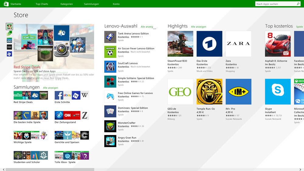 Windows Store kommt mit neuem Design