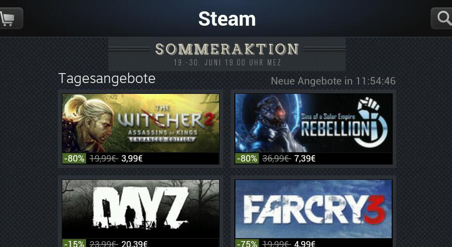 Steam startet Sommeraktion mit zahlreichen Sonderangeboten