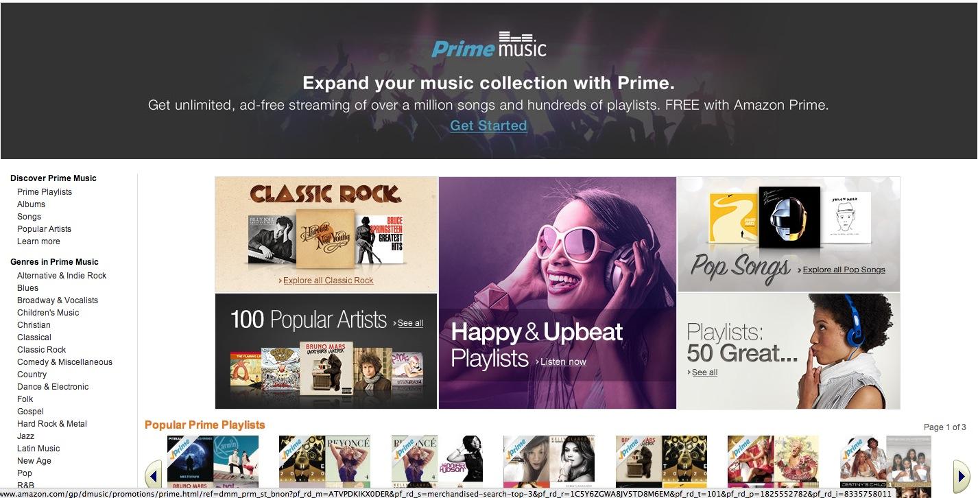 """Amazon Prime Music"" in den USA gestartet"