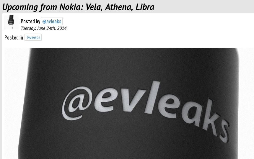Vela, Athena, Libra – Weitere Codenamen für kommende Nokia-Geräte geleakt