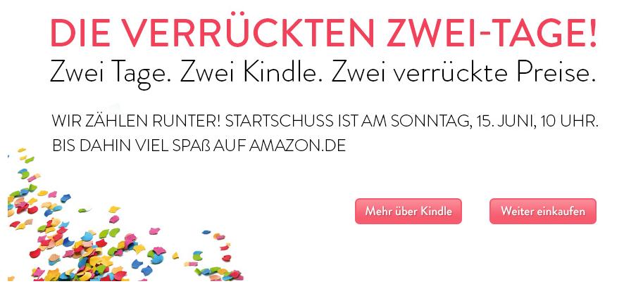 "Amazon mit neuer ""Kindle Aktion"" ab dem 15.Juni"