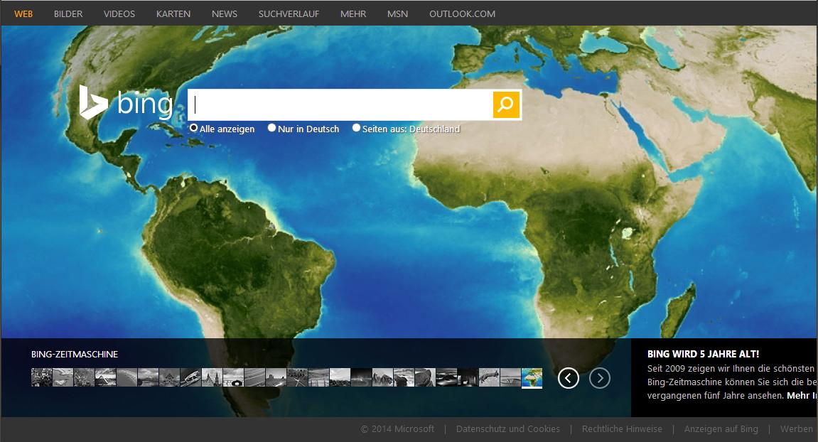 Bing hat heute Geburtstag und wird die neue Suchmaschine in OS X 10.10