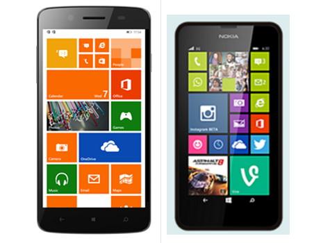 Micromax Canvas Win W121 und W092 im Juli und ein Vergleich zum Lumia 630