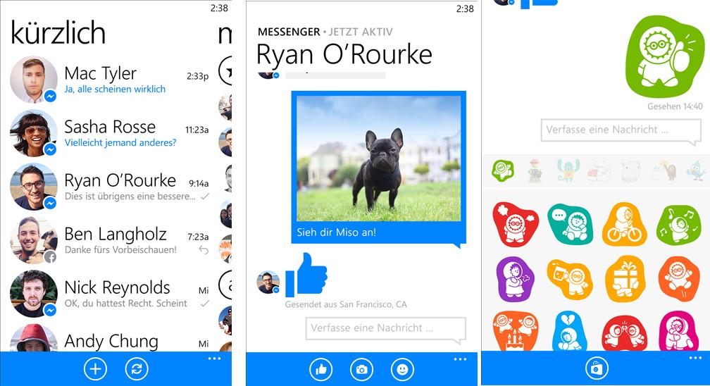 Facebook Messenger App für das Windows Phone hat die Version 5.0.0.0 erreicht