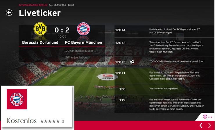 Offizielle Windows 8.x App vom FC Bayern München erschienen
