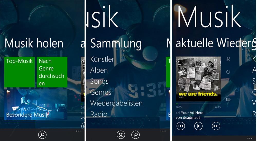 Xbox Music für Windows Phone mit einem Update