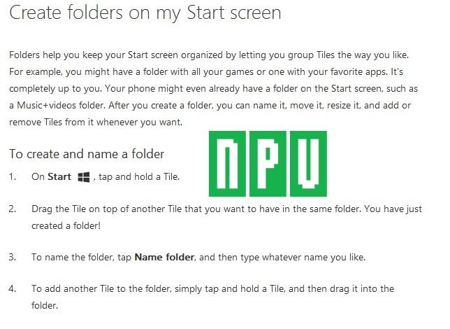 Ordner für mehrere Kacheln im Startscreen kommt als Windows Phone Update