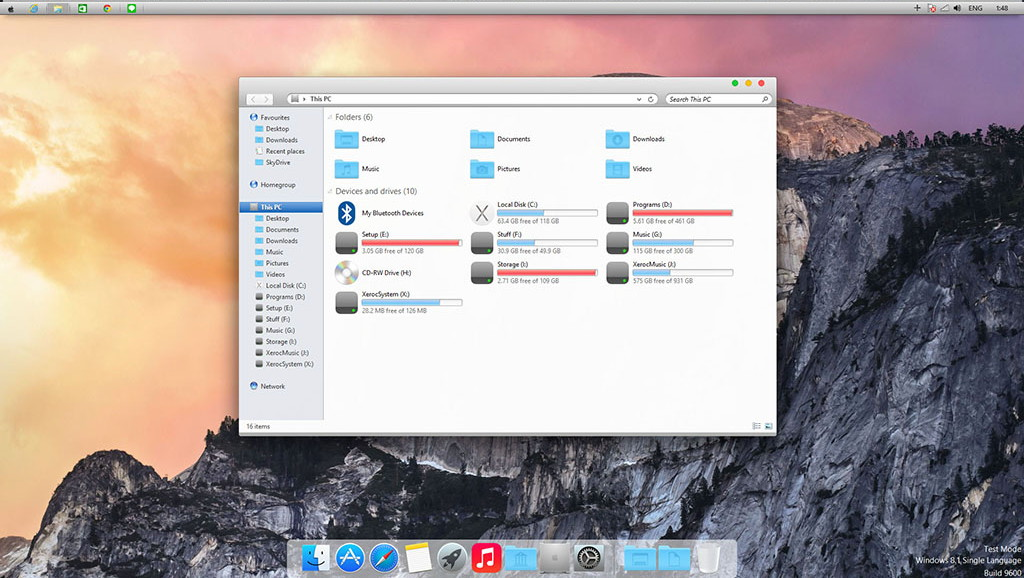 how to get a mac theme on windows 10