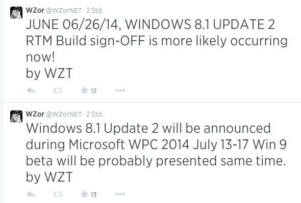 Windows 8.1 Update 2 hat  RTM, Windows 10 Beta wird im Juli gezeigt