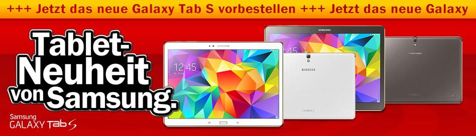 Samsung Galaxy Tab S – Bei Amazon, Media Markt & Saturn vorbestellbar
