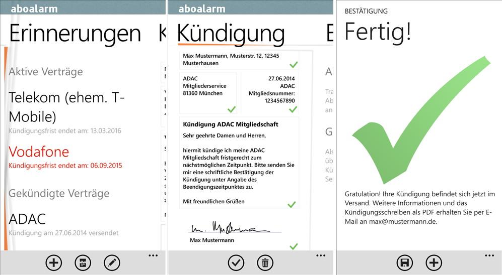 Aboalarm jetzt auch für das Windows Phone