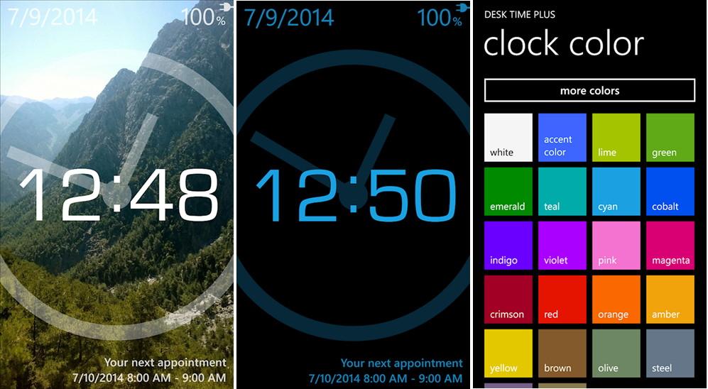App des Tages: Desk Time Plus für das Windows Phone