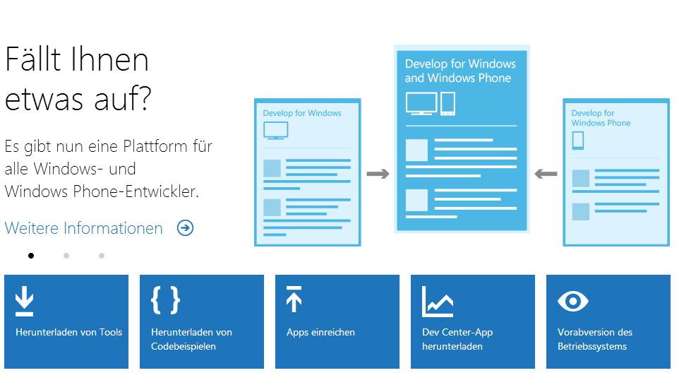 Ab jetzt eine Webseite für Windows App und Windows Phone App Entwickler