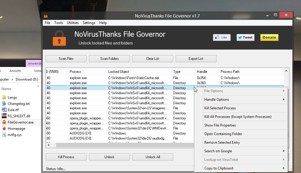 File Governor: Daten, Ordner entsperren unter Windows und noch einiges mehr