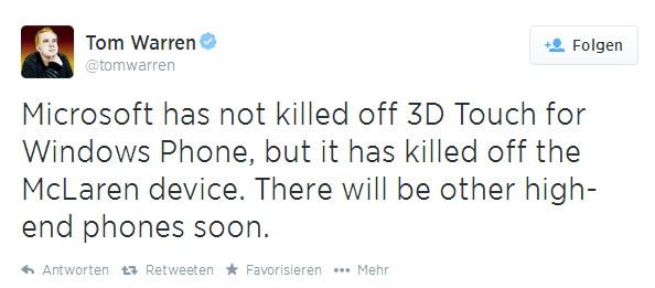 Nokia McLaren wird es nicht geben, dafür ein anders High-End Smartphone von Microsoft