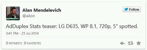 LG D635 – Erneute Hinweise auf ein kommendes Windows Phone 8.1 Smartphone von LG