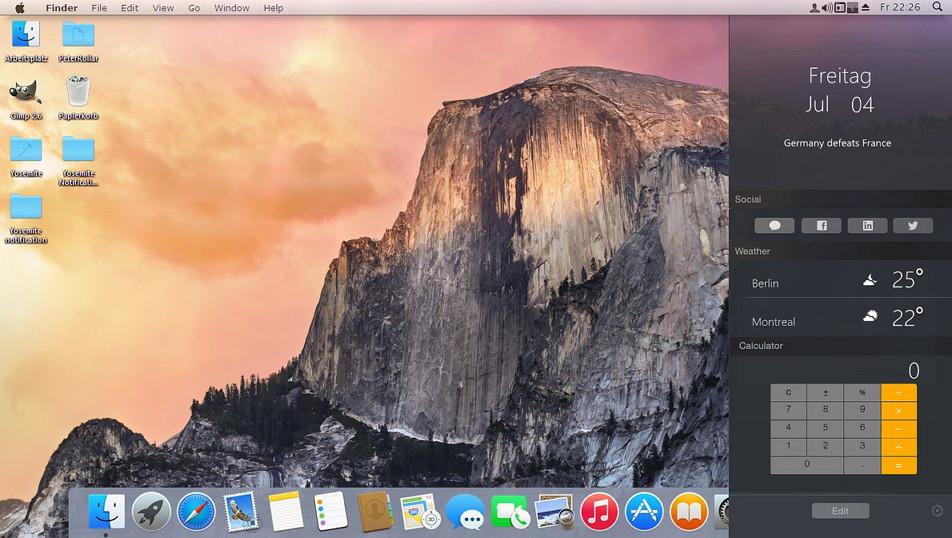 Yosemite OSX notification center für Windows XP bis Windows 8.1