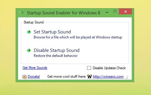 Startsound mit dem Startup Sound Enabler aktivieren, deaktivieren