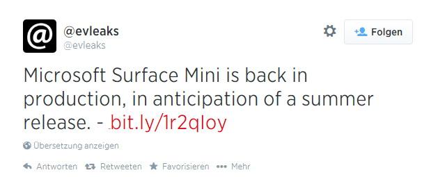 Surface Mini doch schon in diesem Sommer?