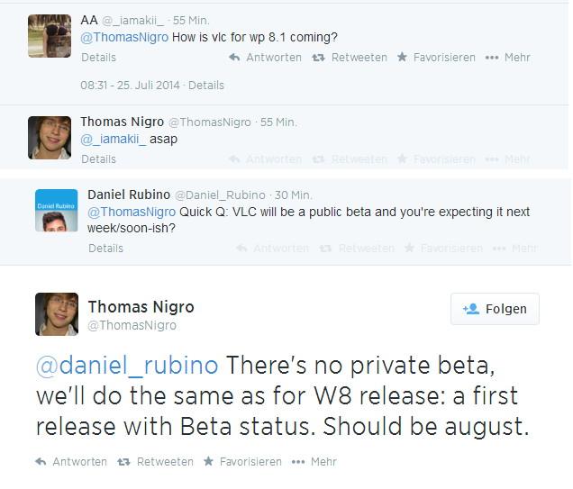VLC als Windows Phone App  im August als öffentliche Beta