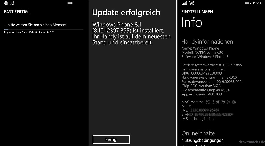 Lumia 630 windows 10 update