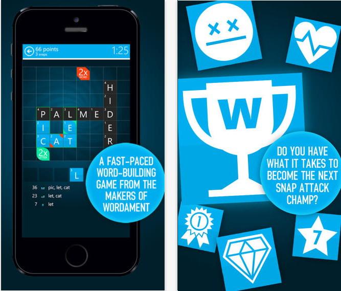 Wordament Snap Attack von Microsoft nun auch für iOS