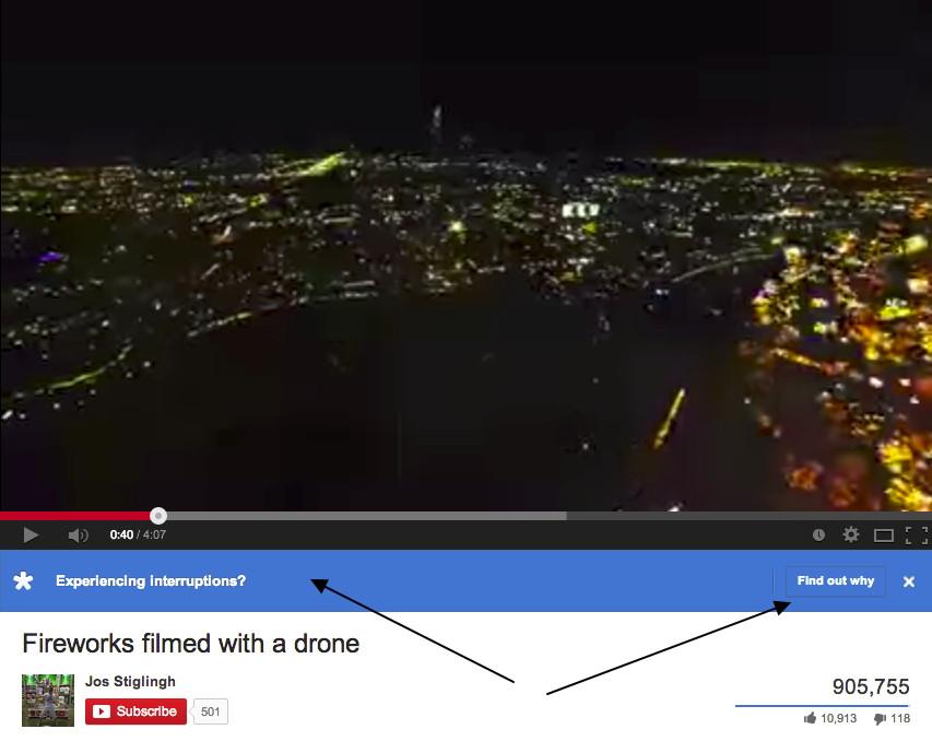 YouTube folgt Netflix und blendet bei Rucklern eine Ansicht ein, warum es dazu kommt