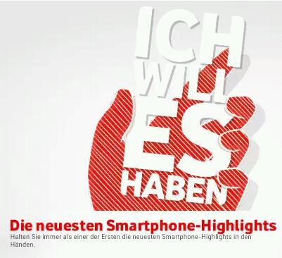 Vodafone nun mit Newsletter zum Vormerken kommender Smartphones