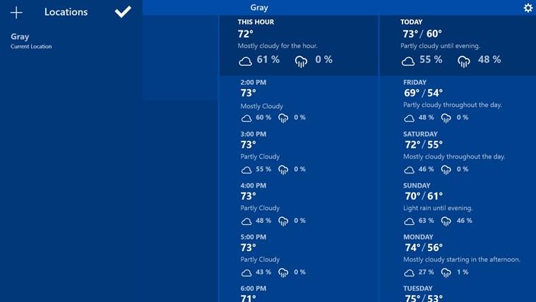 Atmosphere Weather jetzt auch als Windows 8.x App