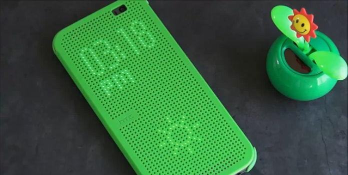 HTC Dot View Case und Cortana auf dem HTC One M8 for Windows in einem Demo-Video