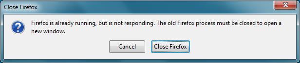Firefox wird bereits ausgeführt, reagiert aber nicht: Lösung in Sicht