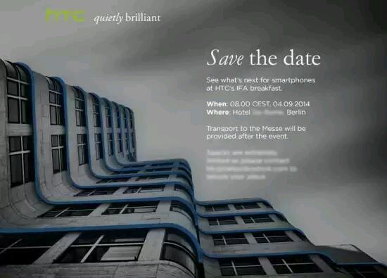 IFA 2014 – Auch HTC mit eigenem Event vor Ort