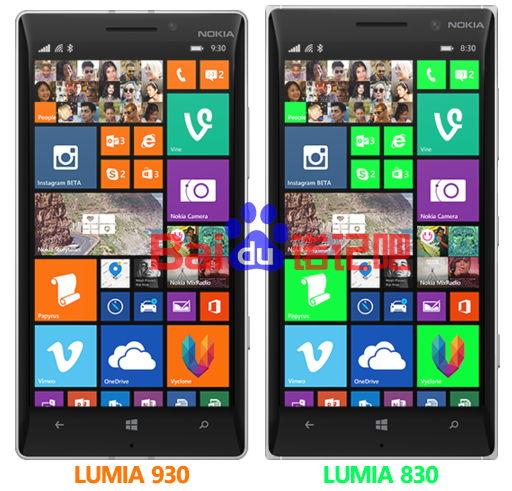 Lumia 830 im Vergleich zum Lumia 930 in einem Bild