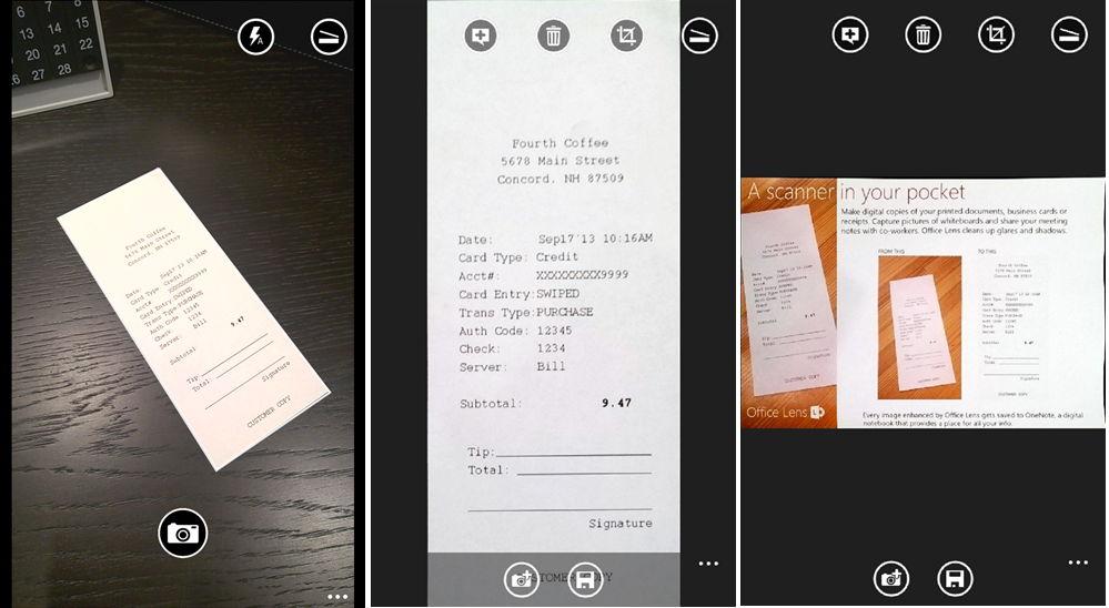 WP: Office Lens und W8: OneNote mit einem Update