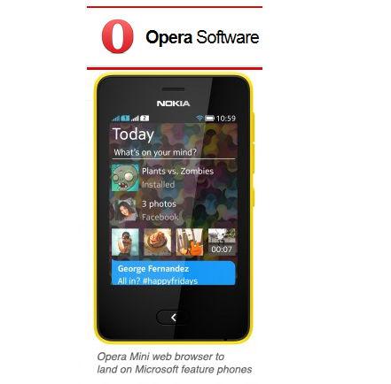 Nokia Handys bekommen den Opera Mini als Standardbrowser