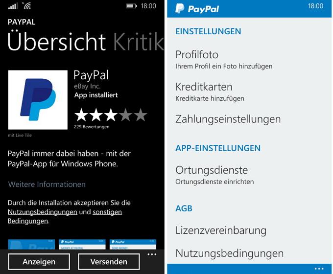 PayPal arbeitet an neuer App für Windows 10 Mobile [Update]