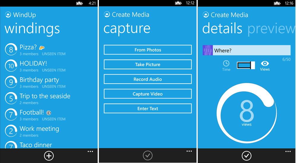WindUp Ein Pendant zu Snapchat von Microsoft