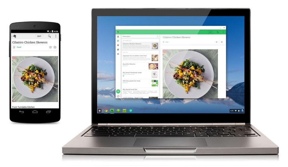 Liste mit Chromebooks, auf denen Android Apps laufen